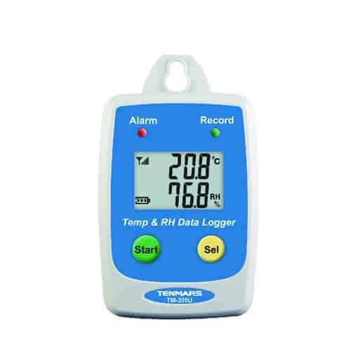 מד טמפרטורה ולחות אוגר נתונים TM-305U